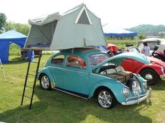 cool roof rent on a vw beetle