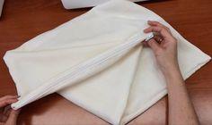 Как сшить чехол на подушку с молнией