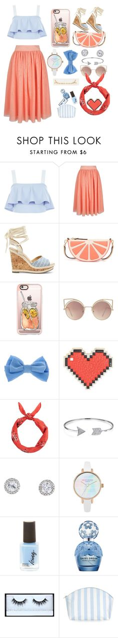 """""""Summer"""" by queen-m1m ❤ liked on Polyvore featuring New Look, Yumi, Sole Society, Kate Spade, Casetify, MANGO, claire's, Anya Hindmarch, Bling Jewelry and Marc Jacobs"""