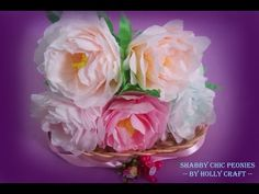 How To Make Tissue Paper Flowers : Shabby Chic Peonies - YouTube