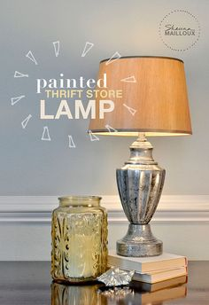 painted thrift store lamp