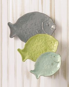 Amazon.com: Grasslands Road Ceramic Nested Fish Plates, 11-Inch, Set of 6: Kitchen & Dining