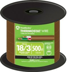 500ft 18//5 Gauge Thermostat HVAC 5-Conductor Unshielded Cable Copper Wire