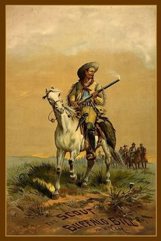 Buffalo Bill Scout Horseback Wild West Art Print Poster for Like the Buffalo Bill Scout Horseback Wild West Art Print Poster Get it at Buffalo Bills, Tour Eiffel, Westerns, West Art, Antique Illustration, Expositions, Le Far West, Scrapbook, Mountain Man