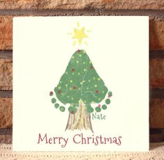Christmas Tree Footprint Plaque 302A_Plq von MyForeverPrints