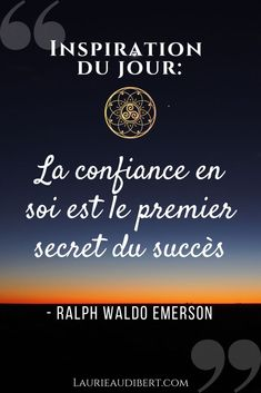 Self-confidence and success / Quote by Raph Waldo Emerson / Laurie Audibert, holistic coach for girls entrepreneurs Quotes Dream, Life Quotes Love, Best Quotes, Best Encouraging Quotes, Inspirational Quotes For Kids, Emerson, Blog Frases, Motivation For Kids, Different Quotes