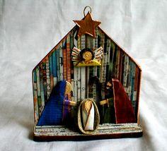 Christmas Nativity Scene, Christmas Art, Handmade Christmas, Nativity Scenes, Nativity Crafts, Christmas Crafts, Christmas Decorations, Christmas Ornaments, Felt Ornaments