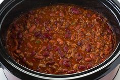 slow cooker chili
