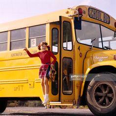 Old School Bus, School Buses, Canvas Art Prints, Framed Canvas, Framed Prints, Bus Girl, Vintage School, The Masterpiece, Happy Fun