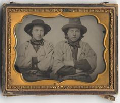 Two Miners, between 1850 and 1855.  From the collections of the California State Library