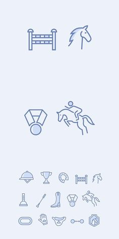 15 Horse Racing Icons - Fitness and Exercises, Outdoor Sport and Winter Sport Story Instagram, Instagram Story Template, Small Horse Tattoo, Horse Template, Watercolor Horse, Horse Logo, Doodle Inspiration, Horse Drawings, Cute Horses