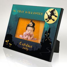 Personalized My First Halloween Picture Frame $34.95
