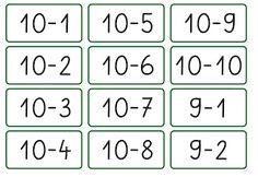 Lernstübchen: alle Minusaufgaben im ZR bis 10