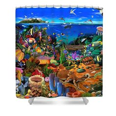 Amazing Coral Reef Shower Curtain For Sale By Gerald Newton