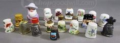 shopgoodwill.com: Loveable Lot Of Collectible Thimbles