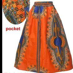 ZAIN African Print Maxi Skirt