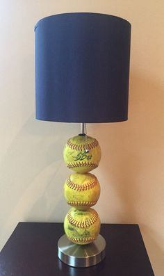 Softball Themed Table Lamp by ChristyVsCreations on Etsy