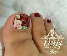Luv Nails, Nails & Co, Pretty Toe Nails, Sexy Nails, Toe Nail Color, Toe Nail Art, Nail Colors, Acrylic Nails, Long Nail Designs