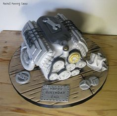Car Engine Cake - Cake by Rachel Manning Cakes