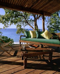 Laluna is a beautiful resort set on Magazine Beach. Cheap Caribbean Islands, Grenada Caribbean, Outdoor Sofa, Outdoor Furniture, Outdoor Decor, Secluded Beach, Cottage, Island Beach, Luxury