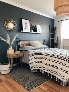 Who would have thought industrial style could be so chic? The edgy Happy Beds Urban Rustic bed looks like it would be right at home in the converted New York apartment of your dreams. With a wood-effect finish, bold black lines and a supportive slatted ba Home Decor Bedroom, Home Bedroom, Bedroom Interior, Bedroom Makeover, Cozy House, Master Bedrooms Decor, Home Decor, Room Ideas Bedroom, Apartment Decor