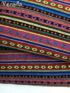 thai woven fabric tribal fabric native cotton fabric by the yard ethnic fabric craft fabric craft supplies woven textile 1 2 yard