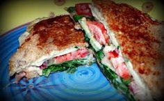 almond cheese sandwiches - recipe to make almond cream cheese!