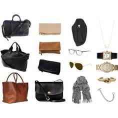 pinning this bc i like the idea of a smaller black bag and a simple leather fold over clutch, and a woven scarf.