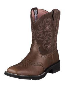Ariat Women's Ranchbaby Square Toe Boot - Brown Rebel