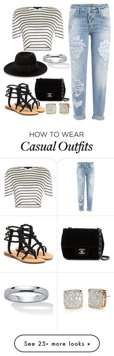 """""""casual"""" by ruthjauregui on Polyvore featuring Mystique, Dsquared2, Alexander Wang, Chanel, Maison Michel, Kate Spade and Palm Beach Jewelry"""