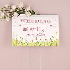 Homespun Charm Wedding Directional Sign