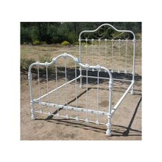 Vintage Love Antique Ornate Iron Bed With Brass Trim found on Polyvore Antique Iron Beds