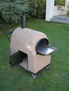 Horno de barro portatil y transportable - Mark Tutorial and Ideas Oven Diy, Diy Pizza Oven, Pizza Oven Outdoor, Outdoor Cooking, Cooking Stove, Stove Oven, Wood Fired Oven, Wood Fired Pizza, Barrel Stove