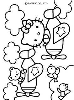 Hello Kitty Coloring Pages To Print Out Free
