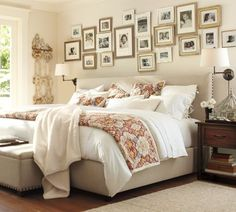 Pottery Barn's expertly crafted collections offer a widerange of stylish indoor and outdoor furniture, accessories, decor and more, for every room in your home. Home Bedroom, Bedroom Wall, Bedroom Decor, Master Bedroom, Bedroom Frames, Bedroom Colors, Bedroom Pics, Light Bedroom, Bedroom Pictures