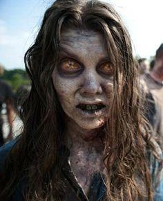 Now THAT is some zombie makeup, I'm tellin ya.  From The Walking Dead, Season Two via Hookshauntedhollow.blogspot.com.