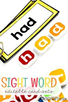 You're looking for sight word resources? Learning to read these sight words will be a breeze! Check out what these editable sight word cards have to offer! Teaching Sight Words, Sight Word Activities, Toddler Learning Activities, Fun Learning, Mobile Learning, Learning Quotes, Sensory Activities, Educational Activities, Literacy Stations