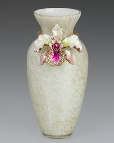 Orchid Vase by Jay Strongwater at Horchow.