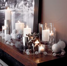 Doesn't take much to make a simple console look festive & elegant