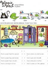 ESL - English Exercises: Winnie the witch - Prepositions of place