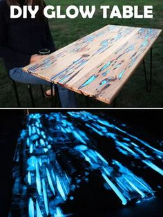 Make This Glow-in-the-Dark Table with Photoluminescent Resin