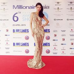 WANG MENG - Wearing the embellished tulle gown @ 6th Private Aviation Show, MillionaireAsia fashion show.
