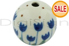 This Polish Pottery Stoneware Bead - is handmade and hand-painted by the Ceramika Artystyczna factory in Boleslawiec, Poland. Polish Pottery, Pottery Art, Poland, Stoneware, Hand Painted, Beads, Handmade, Painting, Products