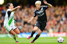 Megan Rapinoe of Lyon vs. Wolfsburg in the UEFA Women's Champions League final, May 23, 2013. (Laurence Griffiths/Getty Images)