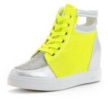 Goede Kwaliteit Marant Genuine Leather Boots, Hoogte Toenemende Vrouwen Sneakers Schoenen strass platform schoenen, gratis verzending (China (Vasteland))