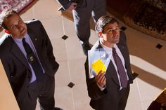 Still of Kyle Chandler and Ted Griffin in The Wolf of Wall Street (2013)