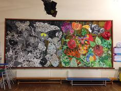 the tin forest - Google Search Forest Book, Forest Art, Year 1 Classroom, Classroom Resources, English Classroom Displays, Display Boards, Rainforests, Foil Art, Iron Age