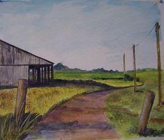 THOMPSON BARN watercolor