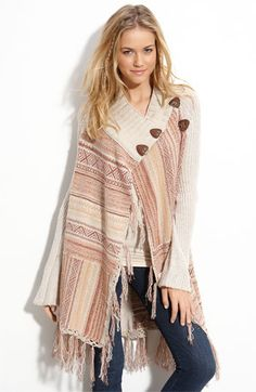 Love my comfy shawls & ponchos.  This makes me excited for fall!