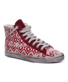 Look at this KIM & ZOZI Red Gypster Hi-Top Sneaker on #zulily today!